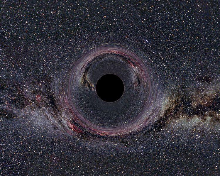 Černá díra - simulovaný vzhled