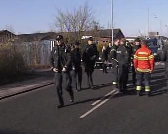 Policejní uzavírka v Kodani