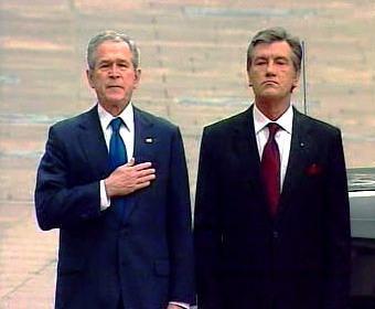 George Bush a Viktor Juščenko