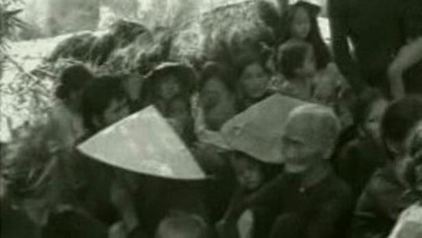Vietnamská vesnice za války ve Vietnamu
