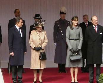 Nicolas Sarkozy na státní návštěvě v Británii