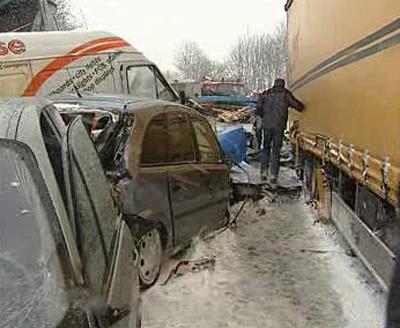 Hromadná nehoda v Rakousku