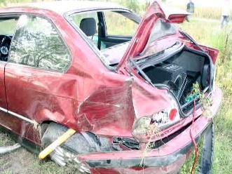 Vrak nabouraného auta
