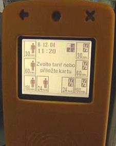 Strojek na označování lístků