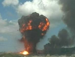 Výbuch muničního skladu v Albánii