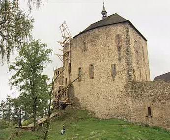 Oprava hradu Točník