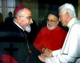 Paulos Faraj Rahho s papežem Benediktem XVI.
