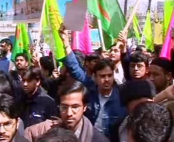 Demonstrace muslimů