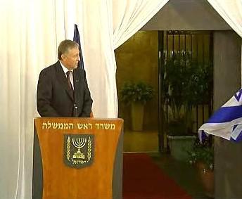 Mirek Topolánek v Izraeli