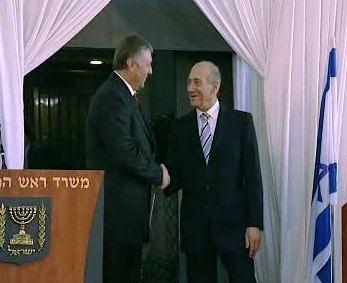 Mirek Topolánek a Ehud Olmert