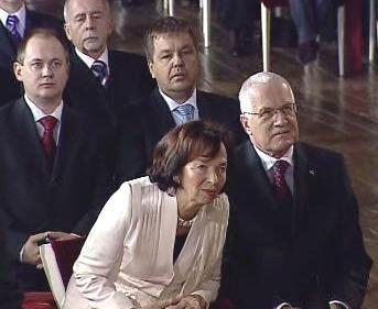 Lívia a Václav Klausovi