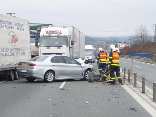 Alfa Romeo po nehodě