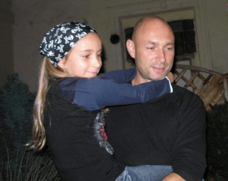 Daniel Landa s dcerou