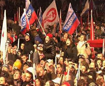 Oslavy Medveděvova vítězství na Rudém náměstí