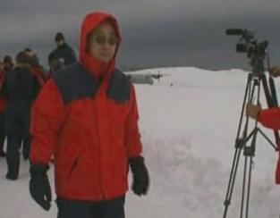 Pan Ki-mun na Antarktidě