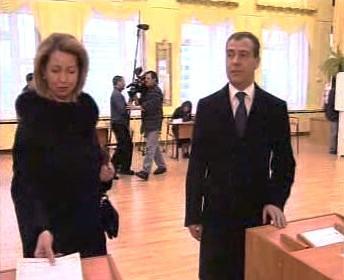 Dmitrij Medveděv s manželkou