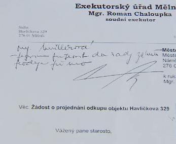 Dopis starostovi