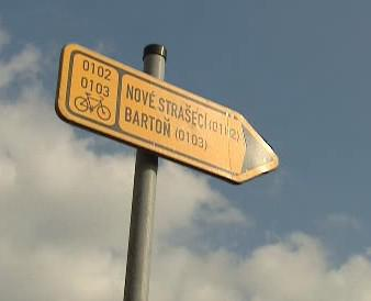 Značka na cyklotrase
