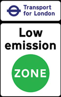 Informační tabule nízkoemisní zóny