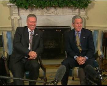 Bush s Topolánkem