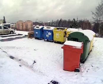 Kontejnery pro tříděný odpad
