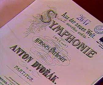 Partitura Novosvětské symfonie Antonína Dvořáka