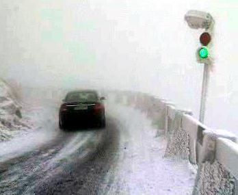 Nevyhovující silnice na Ještěd
