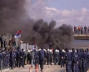 Demonstrace srbských veteránů