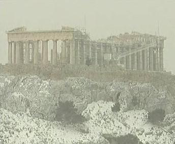 Zasněžená Akropole