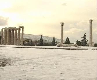Sníh v Řecku