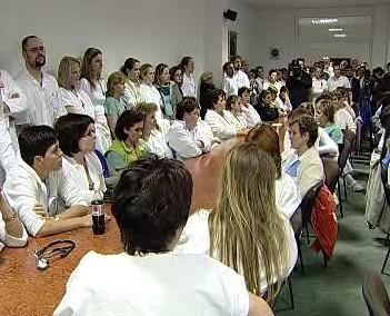 Zaměstnanci nemocnice v Karlových Varech
