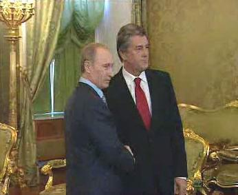 Vladimir Putin a Viktor Juščenko