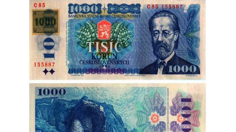 Kolkovaná bankovka
