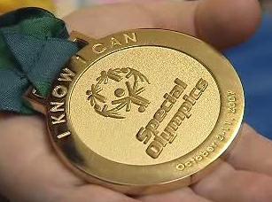 Zlatá medaile ze speciálních olympijských her v Číně