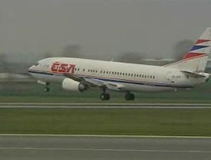 Přistávající letadlo