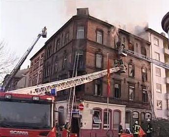 Požár obytného domu v Německu