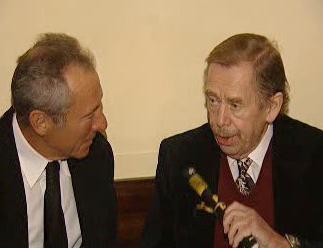 Israel Horovitz s Václavem Havlem