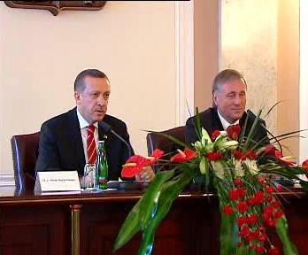 Mirek Topolánek a Recep Tayyip Erdogan
