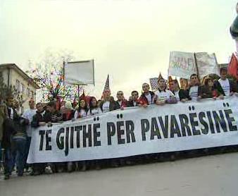 Demonstrace za nezávislost Kosova