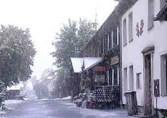 První sníh na Božím Daru