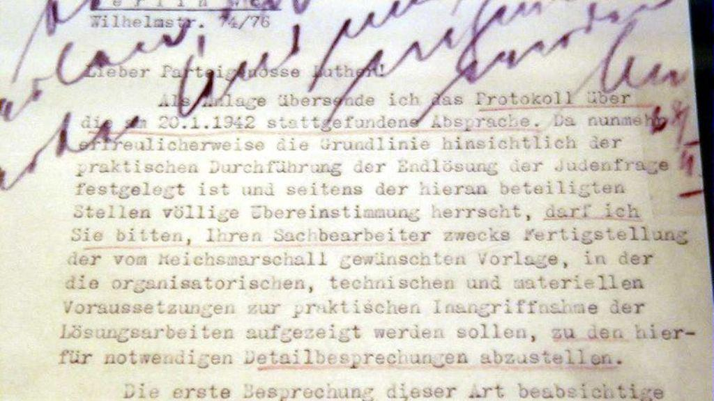 Zápis z konference ve Wannsee