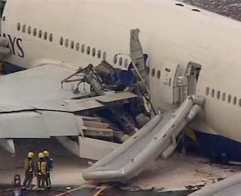 Havárie britského letadla v Londýně