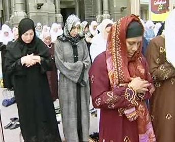 Muslimky při modlitbě