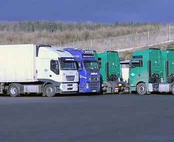 Parkoviště pro kamiony v Netolicích