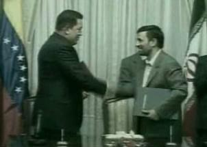 Hugo Chávez a Mahmúd Ahmadínežád