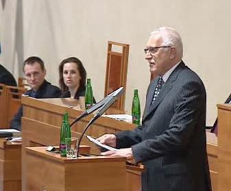 Václav Klaus v Senátu