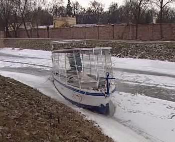 Baťův kanál v zimě