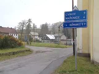 Obec na severu Čech
