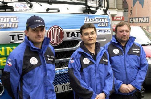 Tomáš Tomeček s posádkou
