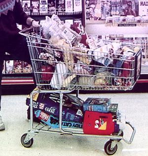 Plný nákupní košík